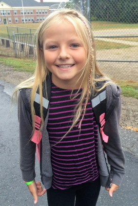 Layla Kerr - First Day, Third Grade 2