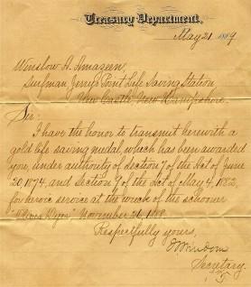 Surf medal letter